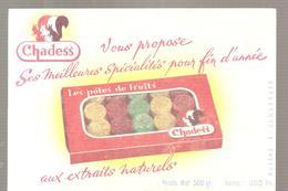 Buvard CHADESS Les Pâtes De Fruits Aux Extraits Naturels - Cake & Candy