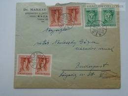 ZA167.14  Hungary Cover 1939 - BAJA Dr. Makrai Gyógyszertára - Vitéz Nedeczky Géza Százados úrnak - Budapest - Covers & Documents