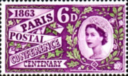 USED  STAMPS Great-Britain - The 100th Anniversary Of The First Inter. - 1963 - 1952-.... (Elizabeth II)
