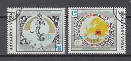Albanien  1992 ,  Michel Nr:  2493/94 ,   Gestempelt/used,  CEPT Mitläufer - Europäischer Gedanke