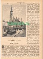 151 Polen Schlesien Breslau 1 Artikel Mit Ca.17 Bildern Von 1890 !! - Historische Dokumente