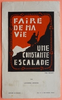 IMAGE SCOUTISME - FAIRE DE MA VIE UNE CONSTANTE ESCALADE - ROUGE - LUCERNA ARDENS 113 - SCOUT - SCAN RECTO/VERSO - Images Religieuses