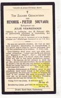 DP Hendrik P. Souvagie ° Leffinge Middelkerke 1874 † Oudenburg 1929 X Julie Vermeersch - Images Religieuses