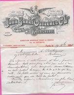 Lettre A Entête John Barry Ostlere  Linoleum & Toiles Cirées  Kirkcaldy Ecosse De PARIS 1894 - France