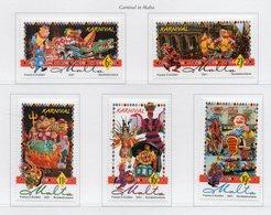 Malta - 2001 - Carnevale Di Malta - 5 Valori - Nuovi - Vedi Foto - (FDC13886) - Malte