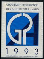 Rare // Etiquette De Vin // Architecture // St.Livres, Groupement Des Architectes Vaudois - Architecture