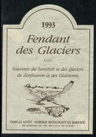 Rare // Etiquette De Vin // Montagnes // Fendant, Vin Des Glaciers - Montagnes