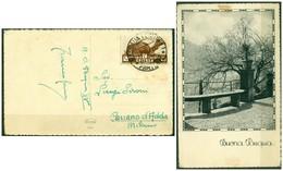 CARTOLINA - V8644 COLONIE ITALIANE ERITREA 1937  Illustrata (Buona Pasqua) Affrancata Con 10 C. Soggetti Africani - Eritrea
