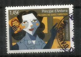 Les Guides Touristiques, Les Carnets Du Voyageur 2018, Un Timbre Oblitéré,  1 ère Qualité - Spanish Andorra