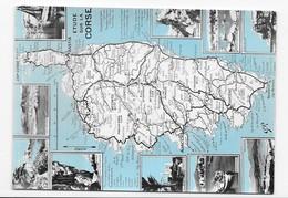 20 CORSE  CARTE GÉOGRAPHIE  CONTOUR  DÉPARTEMENTAL TRÈS BON ETAT 2 SCANS - Autres Communes