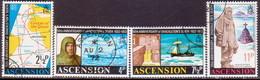 ASCENSION 1972 SG #159-63 Compl.set+m/s Used 50th Anniv Of Shackleton's Death - Ascension