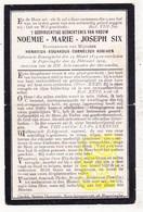 DP Noemie M. Six ° Reningelst 1874 † Poperinge 1909 X Henri Adriaen - Images Religieuses