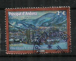 Vues D'Andorre & Escaldes 2018, Un Timbre Oblitéré,  1 ère Qualité - Spanish Andorra