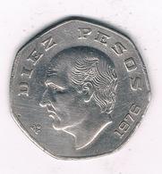 10 PESOS 1976 MEXICO /0540/ - Mexique