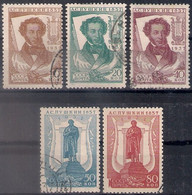 Russia 1937, Michel Nr 549H-54H, Used - 1923-1991 USSR