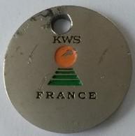 Jeton De Caddie - KWS - FRANCE - VERONICA - Semences Pour L'agriculture - En Métal - - Jetons De Caddies