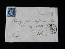 LETTRE DE EU POUR LILLE -  1855  - - Storia Postale