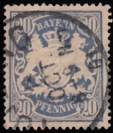 BAVARIA - Scott #51 Coat Of Arms / Used Stamp - Bavière