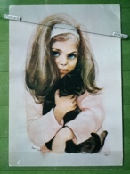 KOV 9-1 - CHILDREN, ENFANT, CAT, CHAT - Groupes D'enfants & Familles