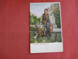 Palermo Costume Acquaiolo  Stamp Peeled Off Back >ref 3135 - Europe