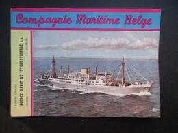 BROCHURE PUBLICITAIRE (M1903) COMPAGNIE MARITIME BELGE (2 Vues) PLAN DU PORT D'ANVERS - Dépliants Touristiques