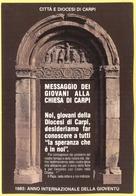 """Tematica - Cristianesimo - Monumenti - Portale Della Chiesa """"La Sagra"""" - 1985 - Anno Internazionale Della Gioventù - Cit - Monumenti"""