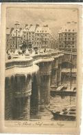 75 CPA Paris Gravure Eau Forte Pont Neuf Sous La Neige  Pinet Graveur N° 7 - Bridges