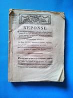Cour Impériale, Limoges, Grande Chambre, Réponse De Jean-Baptiste Grellet, Ex-Député Au Corps-Législatif - Documents Historiques