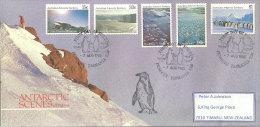 Paysages Du Territoire Antarctique Australien. FDC Oblitération Pingouins, Série AAT Nr 68/72, Année 1985 - Philatélie Polaire