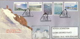 Paysages Du Territoire Antarctique Australien. FDC Oblitération Pingouins, Série AAT Nr 68/72, Année 1985 - FDC