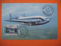 """Carte Maximum France  1954   N° PA 33  Prototypes   - Bréguet """" Provence """" Et Vue Générale Du Port D'Alger - Cartas Máxima"""