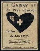 Rare // Etiquette De Vin // 700ème De La Confédération // Gamay Du 700ème - 700ème De La Confédération Helvétique