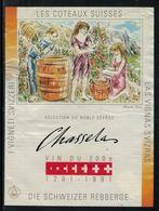 Rare // Etiquette De Vin // 700ème De La Confédération // Chasselas, Vin Du 700ème - 700ème De La Confédération Helvétique