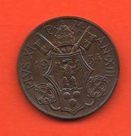 10 Centesimi 1934 Papa Pio XI Vaticano Vatikan Coniati 90.000 Mint - Vatican