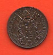 10 Centesimi 1934 Papa Pio XI Vaticano Vatikan Coniati 90.000 Mintage - Vaticano
