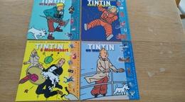 Lot De 4 Livrets Autocollants Repositionnables. Tintin.  Hergé. Jeux D'observation Et D'imagination. - Hergé