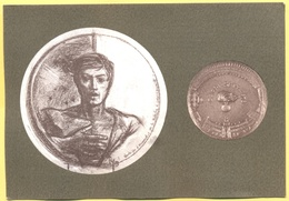 Tematica - Militari - Monumenti - Studio Per Stele E Medaglia, Scultore Romano Pelloni - Vicebrigadiere Dei Carabinieri - Characters