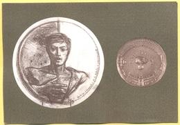 Tematica - Militari - Monumenti - Studio Per Stele E Medaglia, Scultore Romano Pelloni - Vicebrigadiere Dei Carabinieri - Sculture