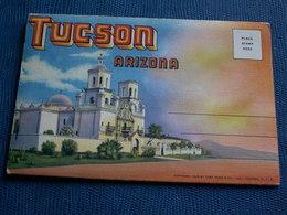 CARNET DE 18 Vues ( Chaque,dépliant Est Double ) Avec Explicatif De Tucson - Tucson