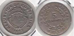 Costa Rica 5 Céntimos 1973 KM#184.3 - Used - Costa Rica