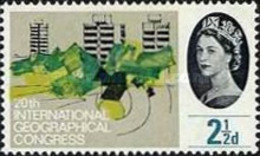USED  STAMPS Great-Britain - The 20th Anniversary Of The International Geo Conference - 1964 - 1952-.... (Elizabeth II)