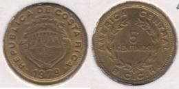 Costa Rica 5 Céntimos 1979 KM#184.3a - Used - Costa Rica