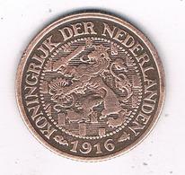1 CENT 1916 NEDERLAND /0554/ - [ 3] 1815-… : Royaume Des Pays-Bas