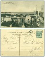 CARTOLINA -LIBIA - V8607 COLONIE ITALIANE CIRENAICA 1912 Cartolina Illustrata (Bengasi Mercato E Marina) Affrancata - Libya