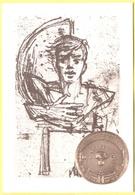 Tematica - Militari - Monumenti - Studio Per Stele E Medaglia, Scultore Romano Pelloni - Vicebrigadiere Dei Carabinieri - Monuments Aux Morts