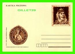 POLOGNE - KARTKA POCZTOWA - PIECZEC KROLOWEJ RYCHEZY ZONY MIESZKA II - RYGHEZA POLSKA - - Pologne
