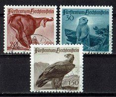 Liechtenstein 1947 // Mi. 253/255 O (033465) Jagd (II) - Liechtenstein