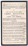 Dp. Mentens Camile. Echtg. Van Doninck Louise. ° Balen 1908 † Tongeren 1931 - Religion & Esotérisme