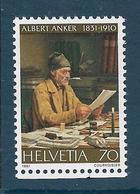 Timbre Neuf** De Suisse, N°1123 Yt ,oeuvre Du Peintre Albert Anker, Le Secrétaire Communal - Suisse