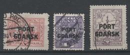 Allemagne - Danzig - PORT GDANSK - 1926-28 - Mi 14-16-21 - Valeur 75€ - Dantzig